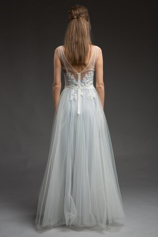 Back of Chantilly Wedding Dress from the Katya Katya Shehurina Morning Mist 2017-2018 Collection
