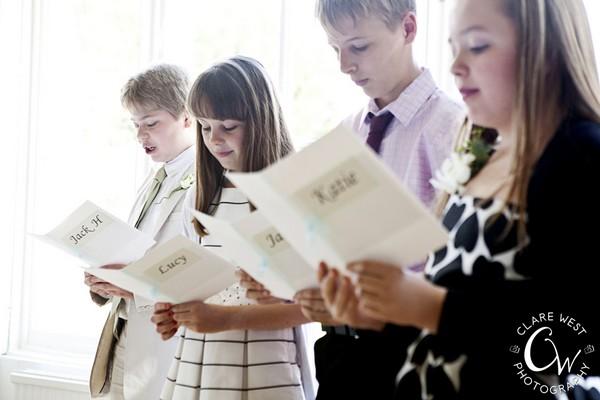 Children Reading at Wedding