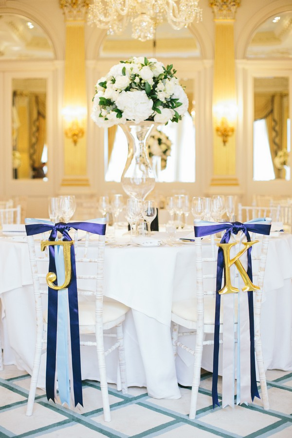 Wedding Chairs at Claridge's Wedding Planned by Lamare London