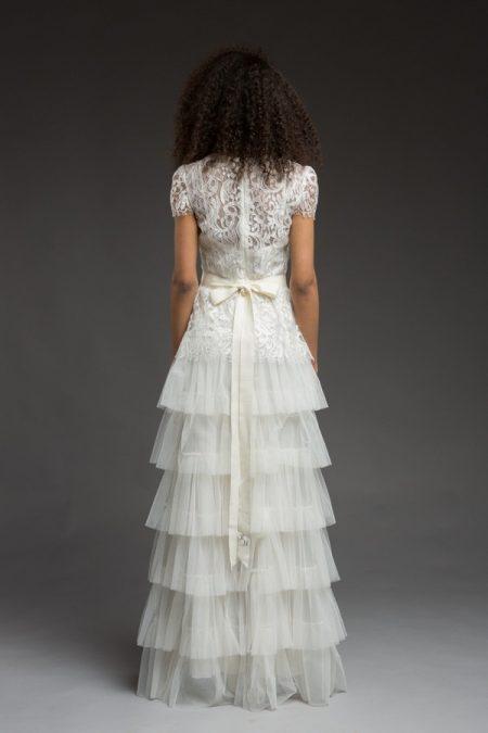 Back of Cyrene Wedding Dress from the Katya Katya Shehurina Morning Mist 2017-2018 Collection