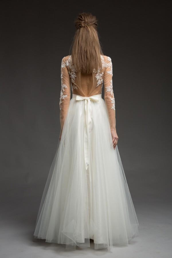 Back of Deliah Wedding Dress from the Katya Katya Shehurina Morning Mist 2017-2018 Collection