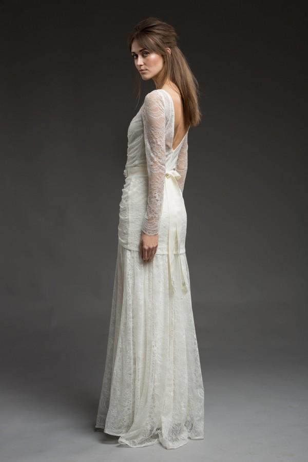 Back of Demelza Wedding Dress from the Katya Katya Shehurina Morning Mist 2017-2018 Collection