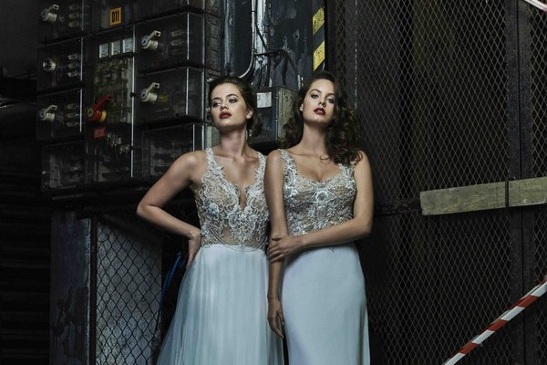 Kayla and Giselle wedding dresses from the Elbeth Gillis Mystique 2018 collection