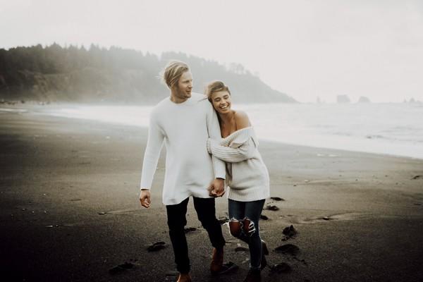 Couple on La Push beach