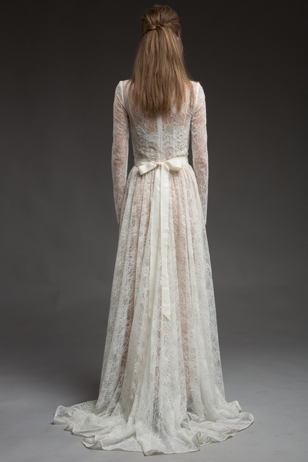 Back of Elizabella Wedding Dress from the Katya Katya Shehurina Morning Mist 2017-2018 Collection