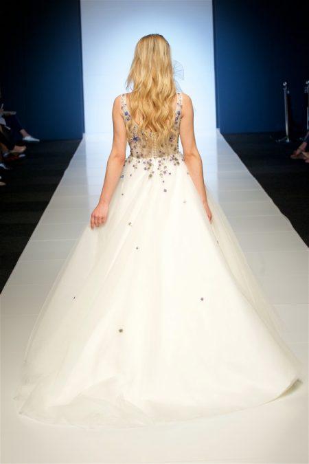 Back of Enchanted Garden Wedding Dress from the Alan Hannah Veritas 2018 Collection