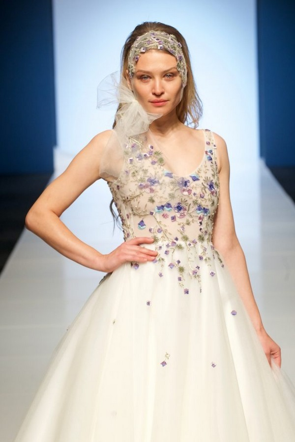 Enchanted Garden wedding dress by Alan Hannah on the White Gallery London May 2017 Catwalk
