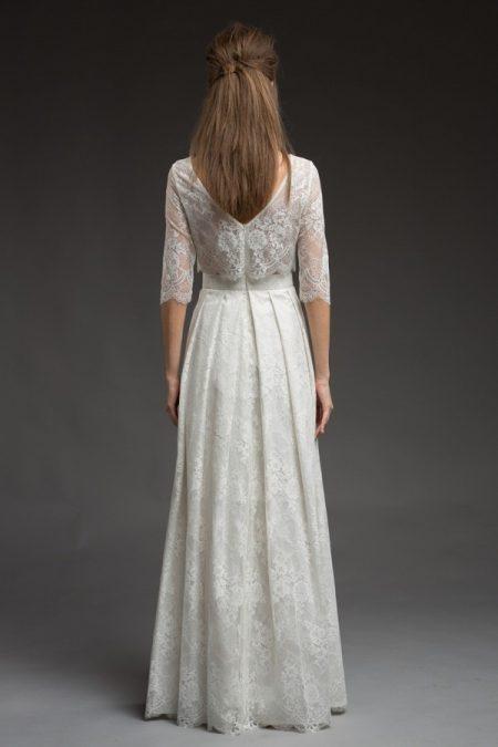 Back of Faith Wedding Dress from the Katya Katya Shehurina Morning Mist 2017-2018 Collection