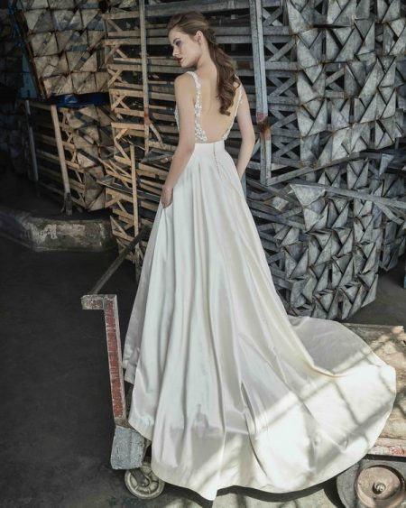 Back of Gardenia wedding dress from the Elbeth Gillis Mystique 2018 collection