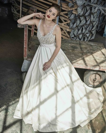 Gardenia wedding dress from the Elbeth Gillis Mystique 2018 collection