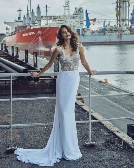 Giselle wedding dress from the Elbeth Gillis Mystique 2018 collection