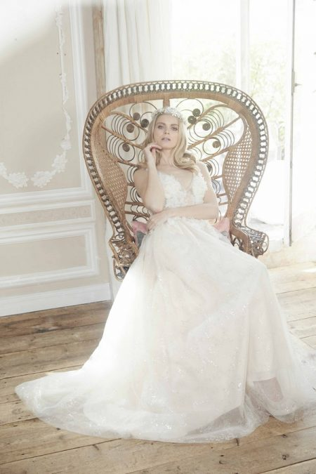 Halo Wedding Dress from the Charlotte Balbier Bohemian Blush 2018 Collection