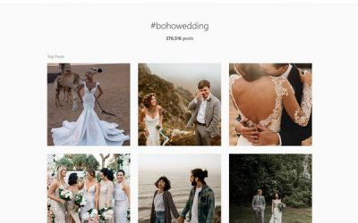 Using Instagram for Wedding Ideas