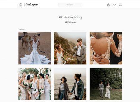Instagram #BohoWedding Results