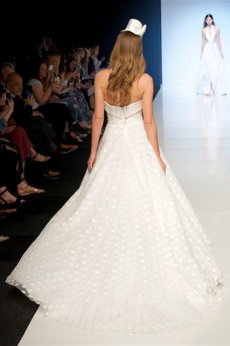Back of Katia Wedding Dress from the Alan Hannah Veritas 2018 Collection