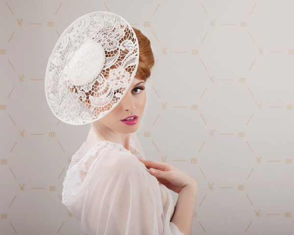 Laced Veil Headpiece by Beverley Edmondson Millinery