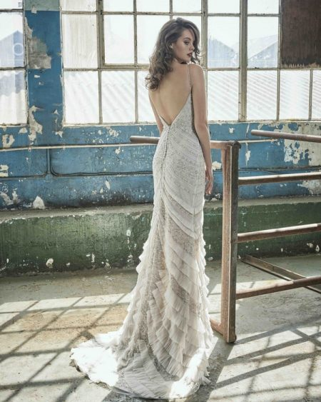 Back of Lorelei wedding dress from the Elbeth Gillis Mystique 2018 collection