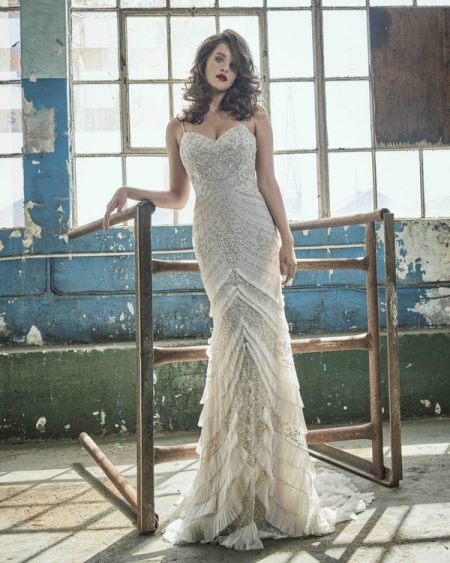 Lorelei wedding dress from the Elbeth Gillis Mystique 2018 collection
