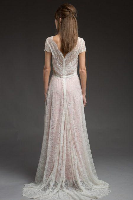 Back of Mimosa Wedding Dress from the Katya Katya Shehurina Morning Mist 2017-2018 Collection