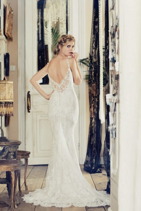 Back of Nyree Wedding Dress from the Charlotte Balbier Bohemian Blush 2018 Collection