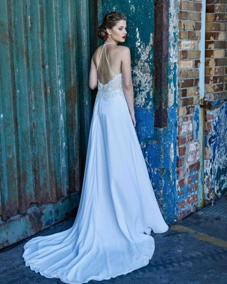 Back of Opal wedding dress from the Elbeth Gillis Mystique 2018 collection
