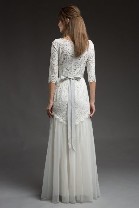 Back of Ophra Wedding Dress from the Katya Katya Shehurina Morning Mist 2017-2018 Collection