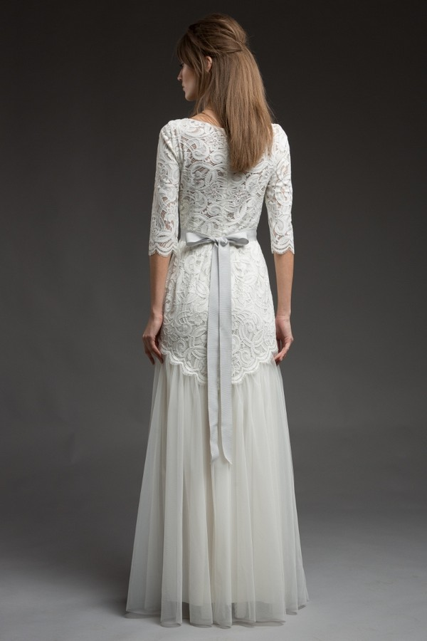 Back of Ophra Wedding Dress from the Katya Katya Shehurina Morning Mist 2017-2018 Collection