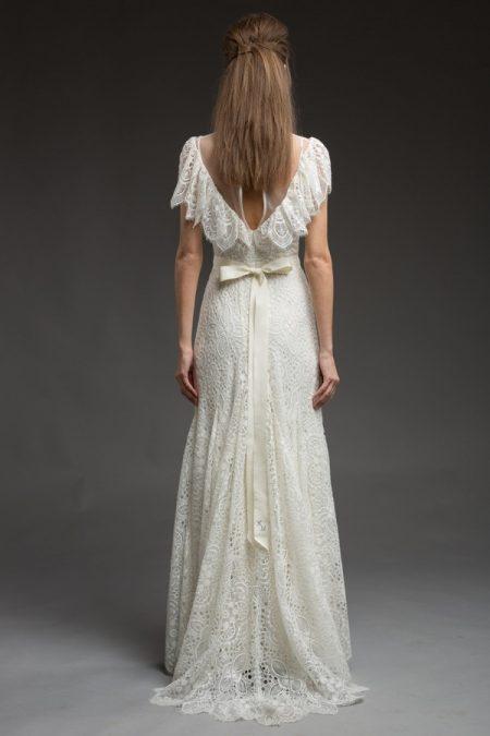 Back of Paisley Wedding Dress from the Katya Katya Shehurina Morning Mist 2017-2018 Collection