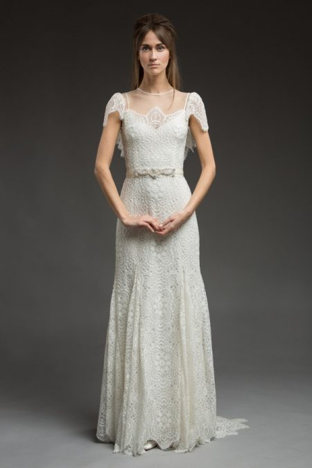 Paisley Wedding Dress from the Katya Katya Shehurina Morning Mist 2017-2018 Collection