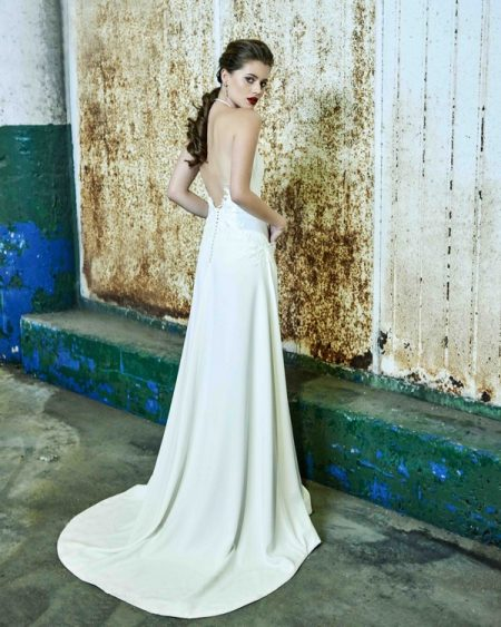 Back of Pippa wedding dress from the Elbeth Gillis Mystique 2018 collection