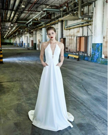 Pippa wedding dress from the Elbeth Gillis Mystique 2018 collection