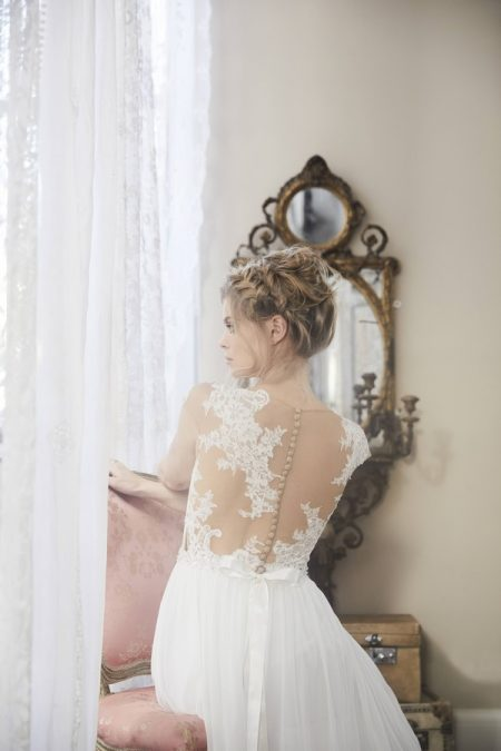 Back of Poem Wedding Dress from the Charlotte Balbier Bohemian Blush 2018 Collection