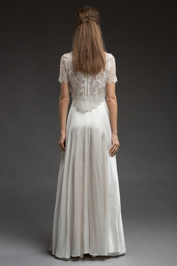 Back of Rhapsody Wedding Dress from the Katya Katya Shehurina Morning Mist 2017-2018 Collection