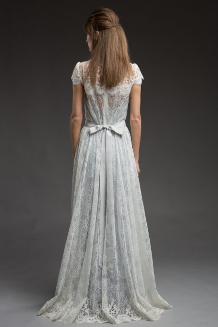 Back of River Wedding Dress from the Katya Katya Shehurina Morning Mist 2017-2018 Collection