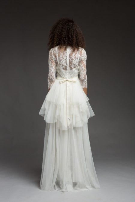 Back of Rome Wedding Dress from the Katya Katya Shehurina Morning Mist 2017-2018 Collection