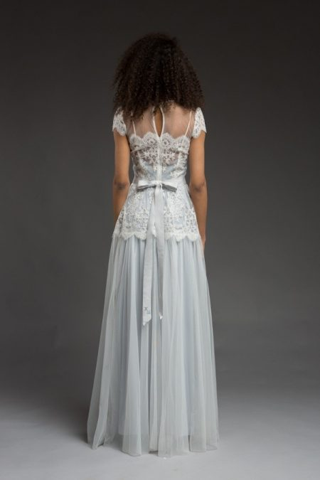 Back of Saga Wedding Dress from the Katya Katya Shehurina Morning Mist 2017-2018 Collection