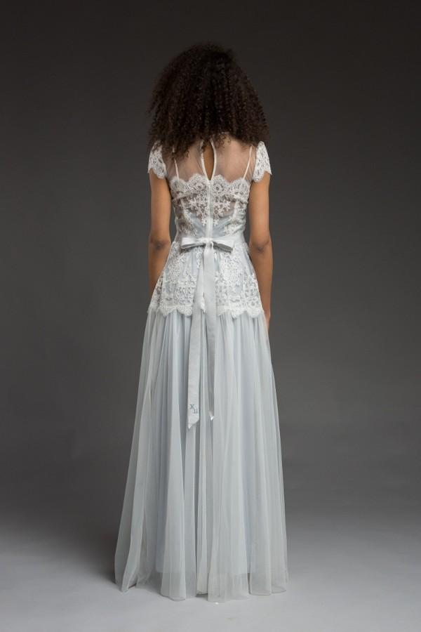 Back of Saga Wedding Dress from the Katya Katya Shehurina Morning Mist 2017-2018 Collection