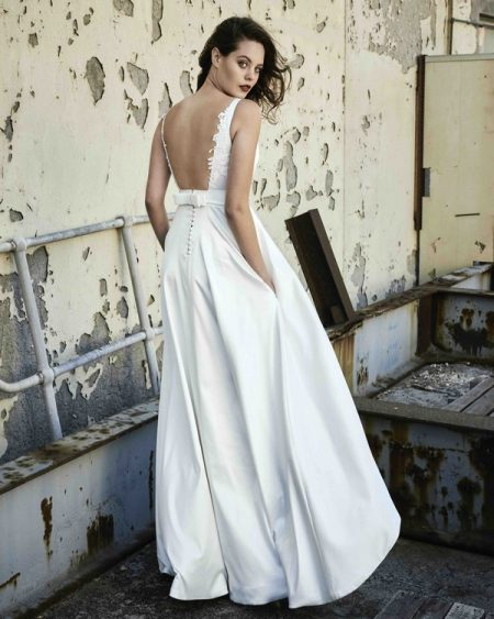 Back of Sarah wedding dress from the Elbeth Gillis Mystique 2018 collection