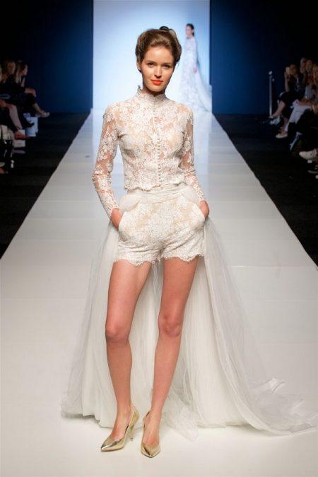 Sylwia Kopczynska wedding dress on the White Gallery London May 2017 Catwalk