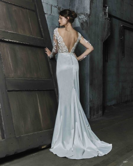 Back of Talya wedding dress from the Elbeth Gillis Mystique 2018 collection