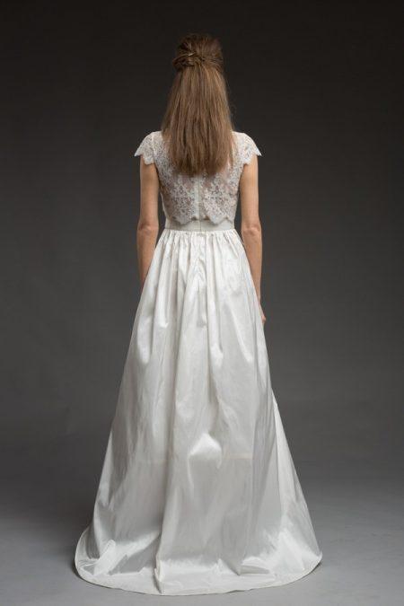 Back of Tamara Wedding Dress from the Katya Katya Shehurina Morning Mist 2017-2018 Collection