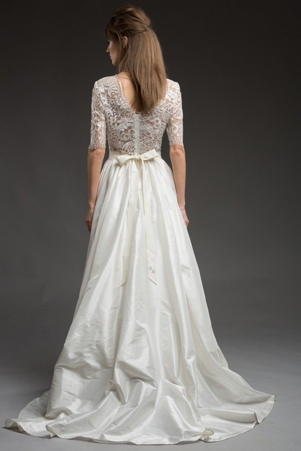 Back of Tess Wedding Dress from the Katya Katya Shehurina Morning Mist 2017-2018 Collection
