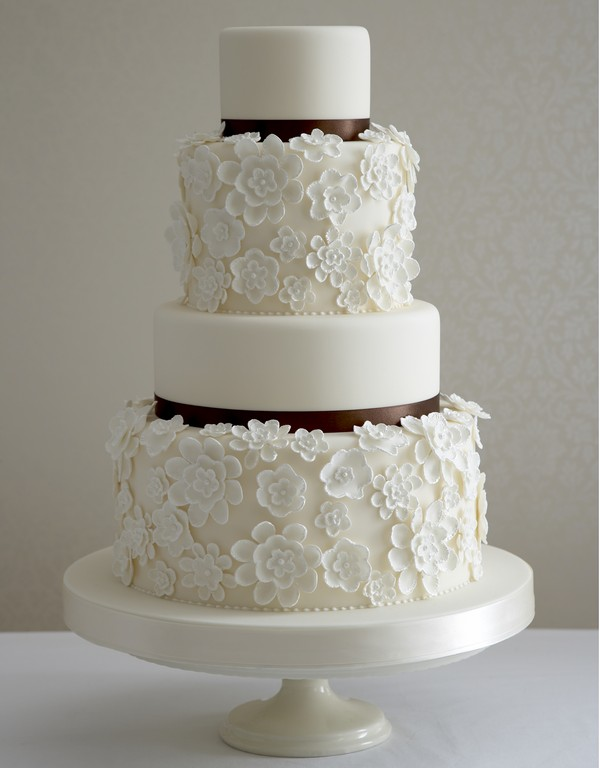 Wedding Cake with Different Height Tiers