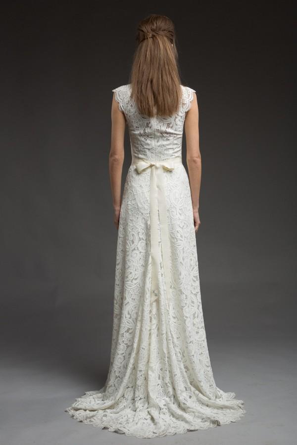 Back of Zeva Wedding Dress from the Katya Katya Shehurina Morning Mist 2017-2018 Collection