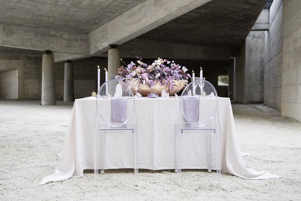 Wedding table with Ghost chairs