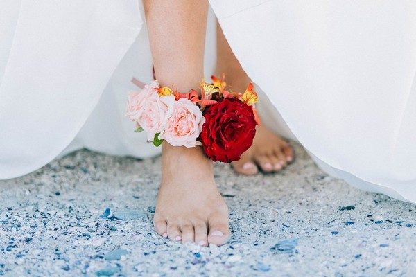 Fresh flower anklet