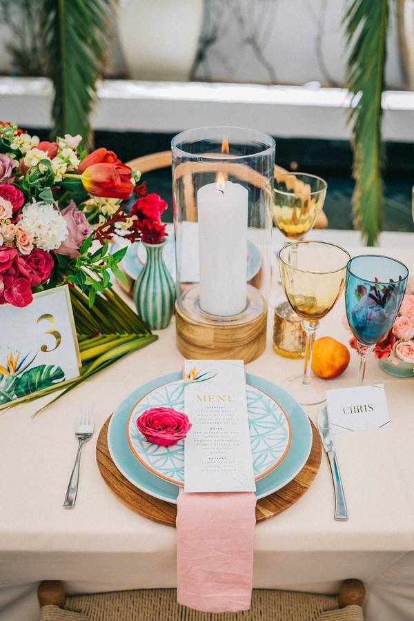 21 - Bright and Colourful Tropical Wedding Styling