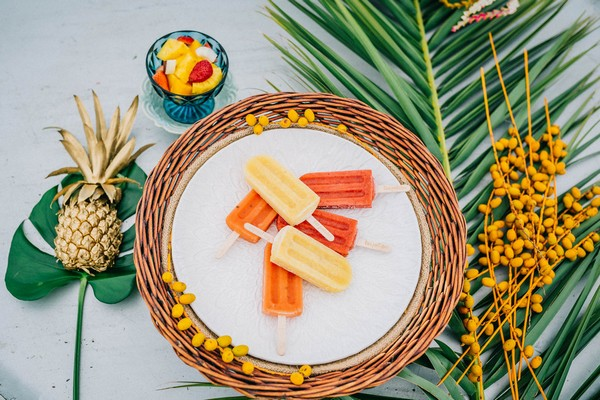 Tropical ice lollies