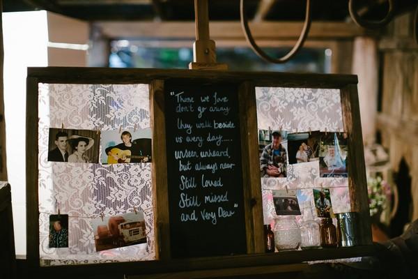 Message on chalkboard