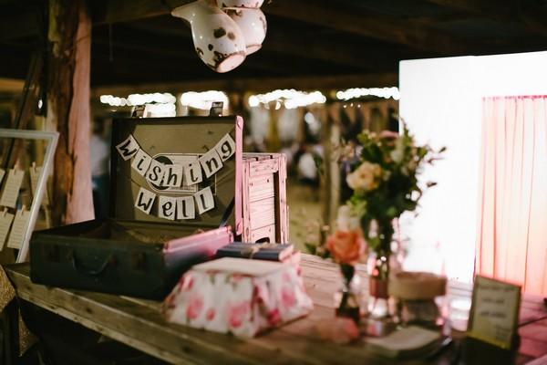 Wishing well wedding suitcase